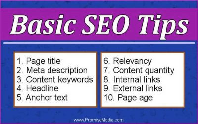 Basic SEO tips