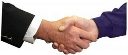 Online selling handshake