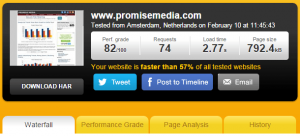 Pingdom site speed test