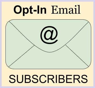 Opt-in email subscribers